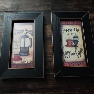 Coffee/Cafe framed wall decor signs